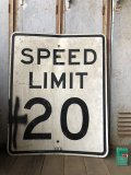 Vintage Road Sign SPEED LIMIT 20 (B288)