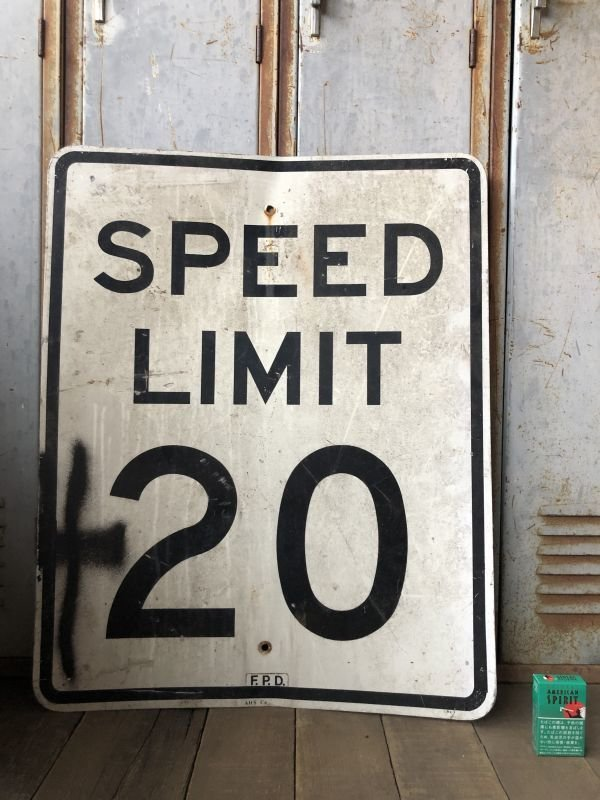 画像1: Vintage Road Sign SPEED LIMIT 20 (B288)