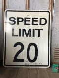 Vintage Road Sign SPEED LIMIT 20 (B290)