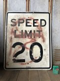 Vintage Road Sign SPEED LIMIT 20 (B284)
