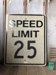 画像1: Vintage Road Sign SPEED LIMIT 25 (B307)  (1)