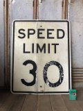 Vintage Road Sign SPEED LIMIT 30 (B319)