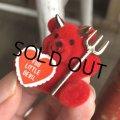 Vintage Hot Stuff Bear Red Devil Pins (B377)