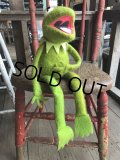【SALE】 70s Vintage FP Muppets Kermit the Frog Plush doll (B390)