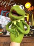 画像1: 70s Vintage FP Muppets Kermit the Frog Puppet doll (B389) (1)