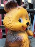 画像7: 70s Vintage Teddy Bear Plastic Coin Bank (B418)