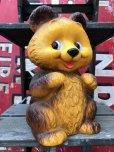 画像1: 70s Vintage Teddy Bear Plastic Coin Bank (B418) (1)