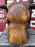 画像3: 70s Vintage Teddy Bear Plastic Coin Bank (B418)