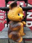 画像4: 70s Vintage Teddy Bear Plastic Coin Bank (B418)
