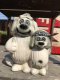 60s Vintage FORD Shaggy Dog Ceramic Bank (B429)