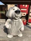 60s Vintage FORD Shaggy Dog Ceramic Bank (B428)