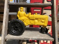 60s Vintage Empire Tractor Plastic Mold Toy (B430)