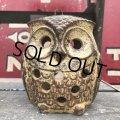 Vintage Ceramic Owl Candle Holder (B434)