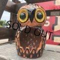 Vintage Ceramic Owl Candle Holder (B435)