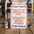 画像1: Vintage Road Sign Private Property (B450)  (1)