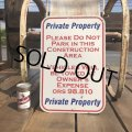 Vintage Road Sign Private Property (B450)
