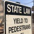 画像2: Vintage Road Sign STATE LAW (B454)  (2)
