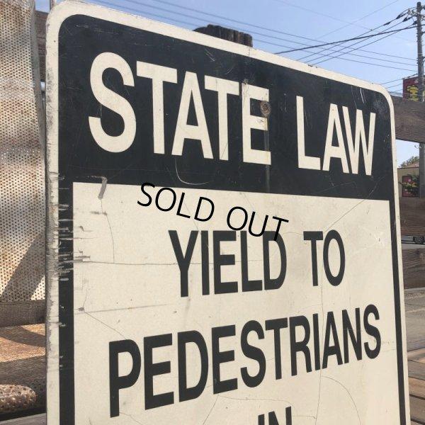 画像2: Vintage Road Sign STATE LAW (B454)