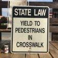 画像1: Vintage Road Sign STATE LAW (B454)  (1)
