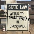 Vintage Road Sign STATE LAW (B454)