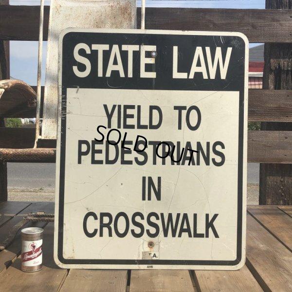 画像1: Vintage Road Sign STATE LAW (B454)