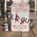 Vintage Road Sign PETS PROHIBITED (B452)
