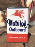 Vintage Mobiloil Outboard Can (B457)