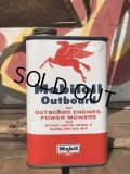 Vintage Mobiloil Outboard Can (B458)