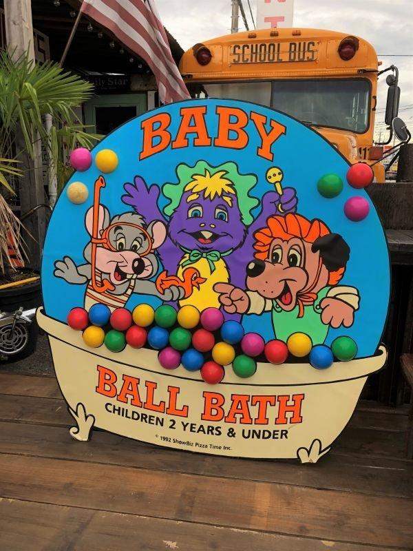 画像1: 90s ShowBiz Pizza Place BABY BALL BATH GAME Original Store Display (B486)