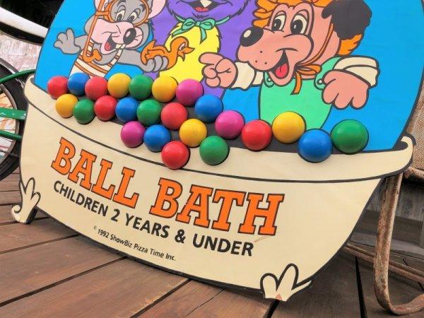 画像2: 90s ShowBiz Pizza Place BABY BALL BATH GAME Original Store Display (B486)