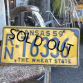 50s Vintage License Plates RN T6336 (B529)