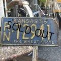 50s Vintage License Plates RN T2941 (B530)