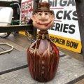 40s Vintage Hobo Drunken Man Decanter Bottle (B492)
