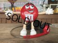 Vintage M&M's Dispenser RADIO Red (B507)