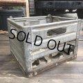 Vintage Metal Milk Crate (B515)
