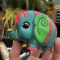 Vintage Hippie Psychedelic Ceramic Bank Elephant (B539)