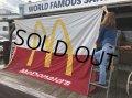 70s Vintage Original McDonald's Flag Banner Sign (B565)