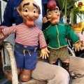50s Vintage Yokum Dogpatch Pappy & Mammy Doll Set  53cm (B623)
