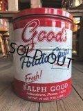Vintage RALPH GOOD Potato Chips Tin Can (B639)