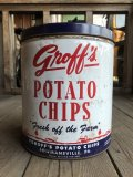 Vintage GROFF'S Potato Chips Tin Can (B640)