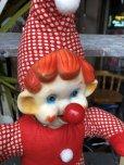 画像7: Vintage Musical Toy Clown Rubber Face Doll (B645)