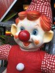 画像6: Vintage Musical Toy Clown Rubber Face Doll (B645)