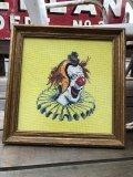Vintage Clown cross-stitch W/Frame (B646)