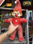 画像1: Vintage Musical Toy Clown Rubber Face Doll (B645) (1)
