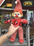 Vintage Musical Toy Clown Rubber Face Doll (B645)