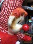 画像8: Vintage Musical Toy Clown Rubber Face Doll (B645)