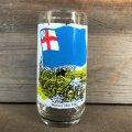70s Vintage Coca Cola Heritage Glass Bunker Hill Flag (G030)