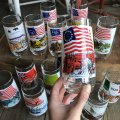 70s Vintage Coca Cola Heritage Glass First Stars and Stripes (G040)