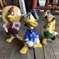 40s Disney's Three Caballeros Cramic Figurine Complate Set (B669)