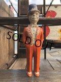 1940s Vintage Charlie McCarthy Chalkware Carnival Statue (B673)